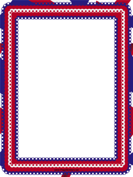 Red White and Blue Eyelet Border page border