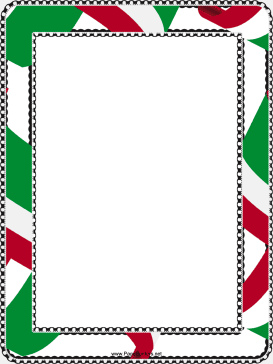 Red White and Green Border page border