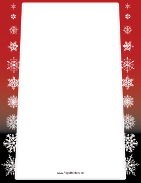 Red and Black Snowflake Border page border