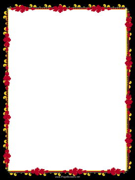 Red and Gold Garland Border page border