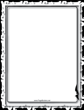 Relief Black and White Border page border
