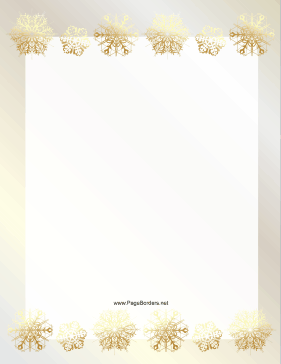 Rows of Gold Snowflake Border page border