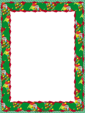 Santa and Trees Christmas Border page border