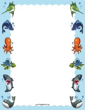 Sea Animals Border page border