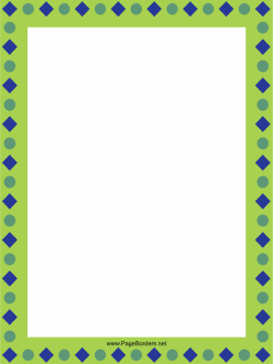 Shapes Green Border page border