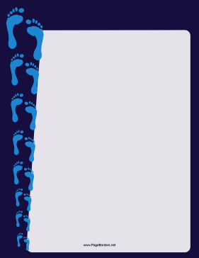 Shrinking Footprint Border page border