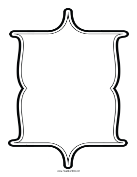 Six-Pointed Border page border