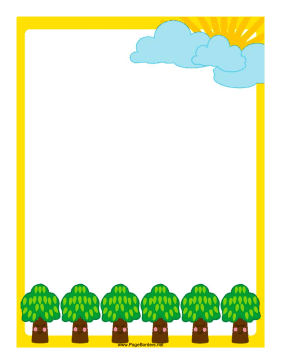 Smiling Trees Border page border
