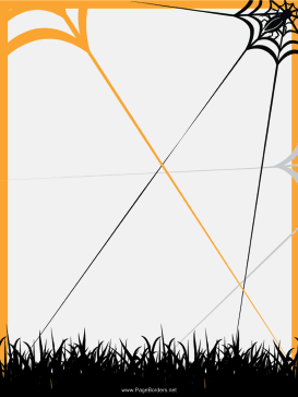 Spider Web Halloween Border page border