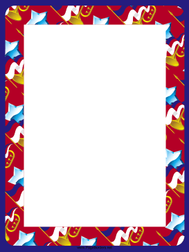 Stars and Horns Border page border