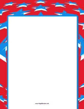 Stars and Stripes Border page border