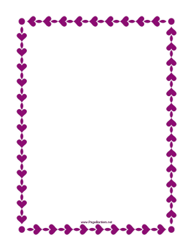 String of Hearts Border page border