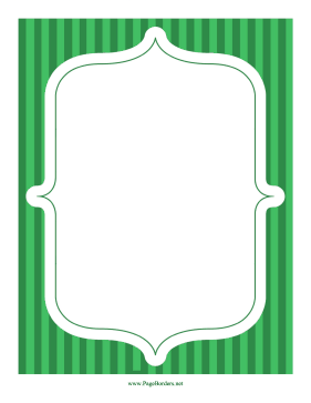 Stripe Frame Green page border
