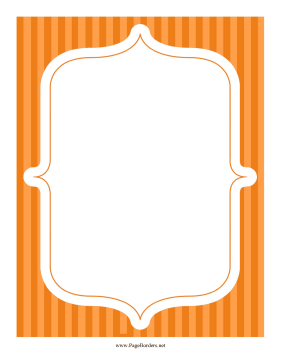Stripe Frame Orange page border