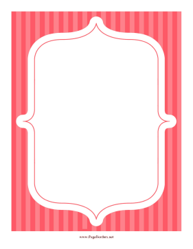 Stripe Frame Red page border