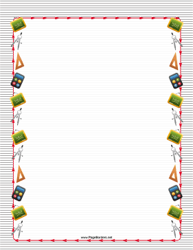 Striped Math Border page border