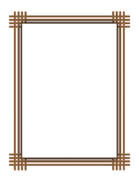 Tan Orange Weave Border page border