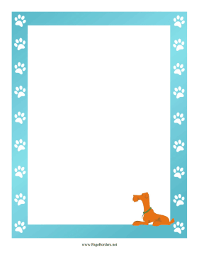 Terrier Border page border