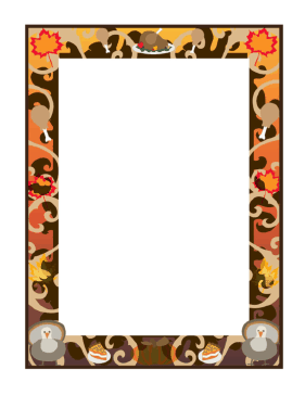 Thanksgiving Border page border