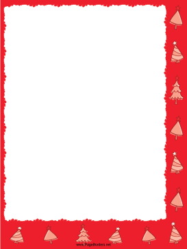 Trees Red Christmas Border page border