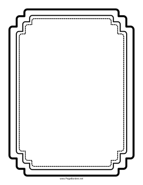 Triple Rectangular Border page border