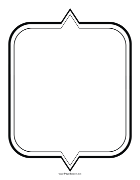 Two-Pointed Border page border