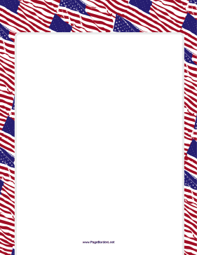 USA Flag Border page border