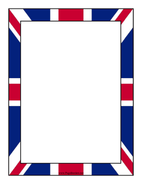 United Kingdom Flag Border page border