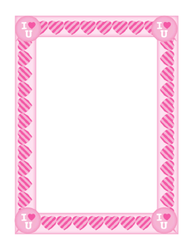 Valentines Day Border page border