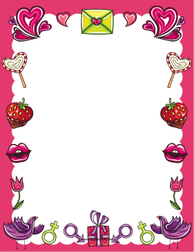 Valentines Day Treats Border page border