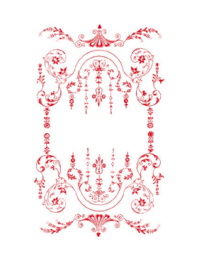 Victorian Red Border page border