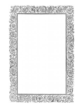 Victorian Vines BW Border page border