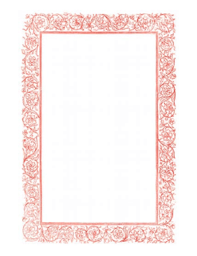 Victorian Vines Red Border page border
