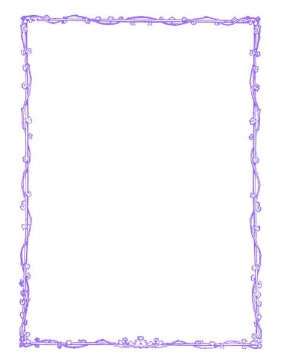 Vine Leaves Purple Border page border
