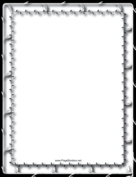 Vines Black and White Border page border