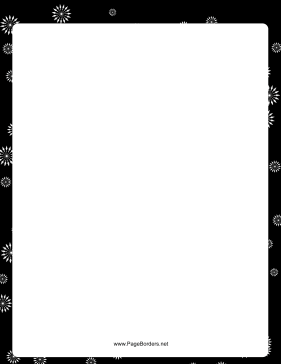 White Starbursts Black and White Border page border
