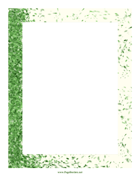 Windy Leaf Border page border