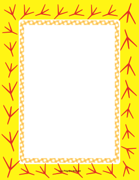 Yellow Bird Footprint page border