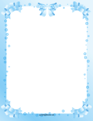 Blue Ribbon Border page border