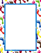 Cute Footprint Border page border
