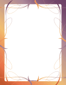 Fancy Pastel Border page border