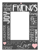 Friendship Border Vertical page border