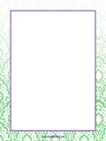 Green Pattern Border page border