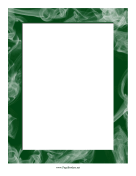Green Smoke Border page border