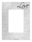 Love Silver Frame Vertical page border