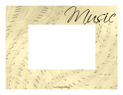 Music Sheet Border Horizontal page border
