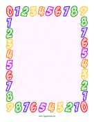 Numbers Border page border