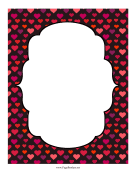 Ornate Hearts Frame page border