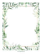 Plant Leaves Border page border