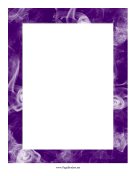 Purple Smoke Border page border